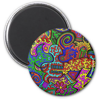 Squiggly Madness Fridge Magnet