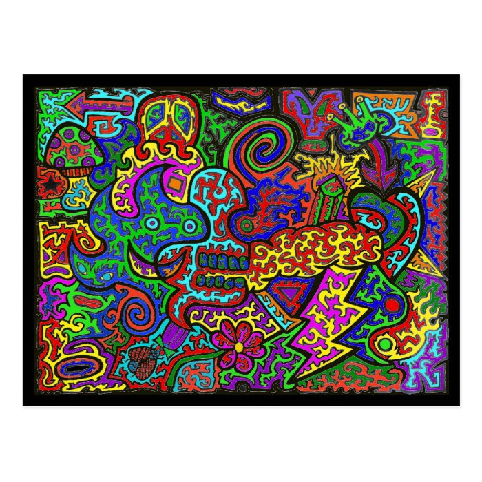 Squiggly Madness Postcard