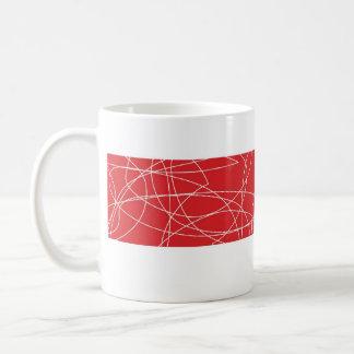 squiggy red mug
