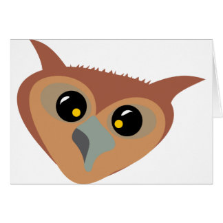 Squint-eyed Owl Card