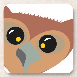 Squint-eyed Owl Drink Coaster