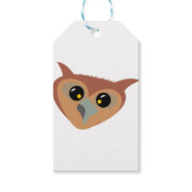 Squint-eyed Owl Gift Tags
