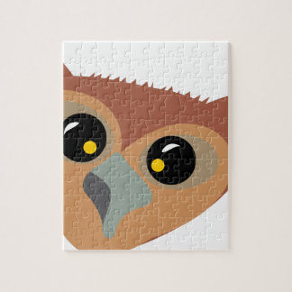 Squint-eyed Owl Jigsaw Puzzle