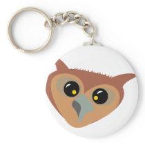 Squint-eyed Owl Keychain