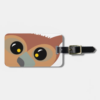 Squint-eyed Owl Luggage Tag
