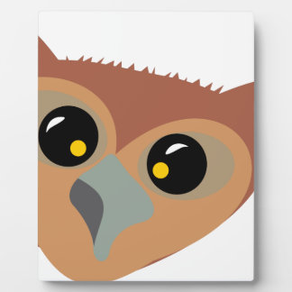 Squint-eyed Owl Plaque