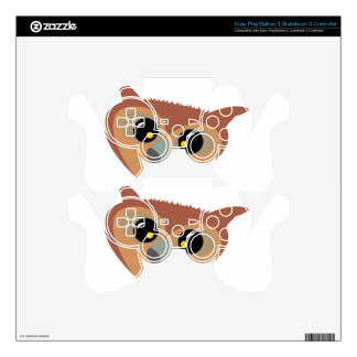 Squint-eyed Owl PS3 Controller Skin