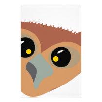 Squint-eyed Owl Stationery