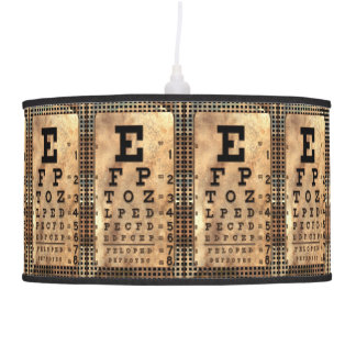 Squint Vintage Eye Chart Hanging Lamp