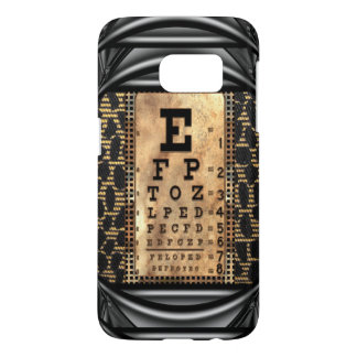 Squint Vintage IV Eye Chart Cool Samsung Galaxy S7 Case