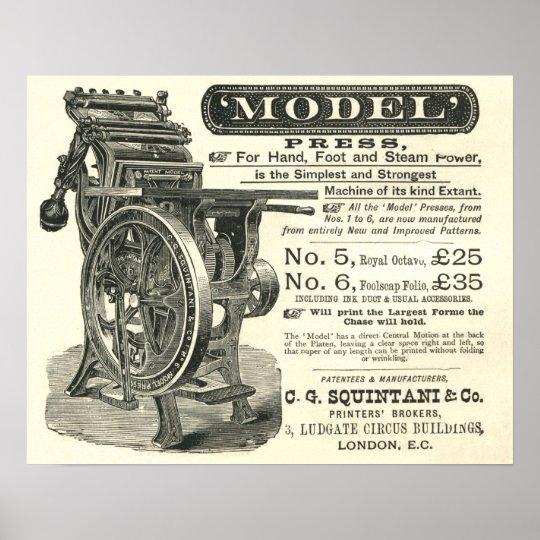 Squintani Model letterpress poster