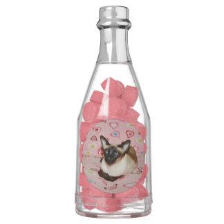 Squinting Siamese Cat Chewing Gum Favors