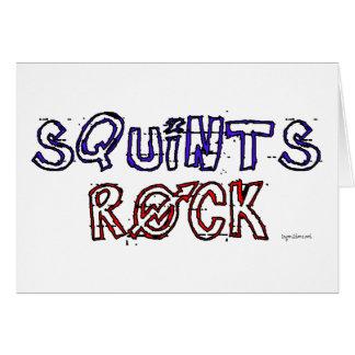 Squints Rock! Card