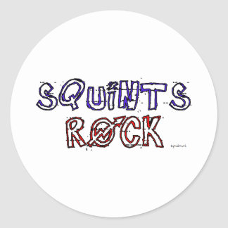 Squints Rock! Classic Round Sticker