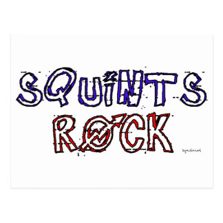Squints Rock! Postcard