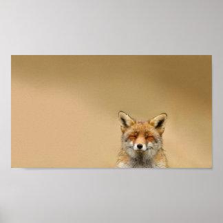 Squinty Eye Fox Poster