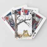 Squirel and Orange Tiger Cat Playing Cards