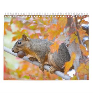 squirel with nut calendar