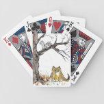 Squirel y gato de tigre anaranjado barajas de cartas