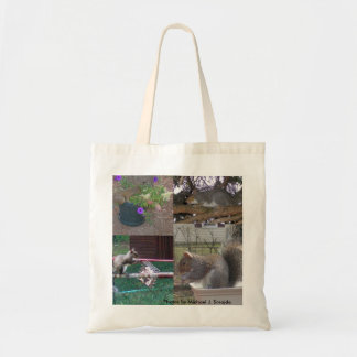 Squirell Collage Canvas Bags