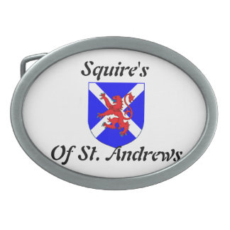 Squire's Of St. Andrews Belt Buckle Oval