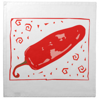 Squirls redondeados chile rojo de la pimienta servilleta de papel