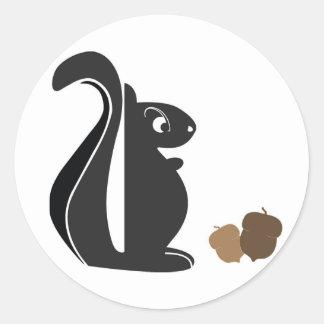 Squirrel 0024 nc classic round sticker