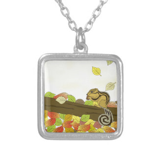 Squirrel-1 Silver Plated Necklace