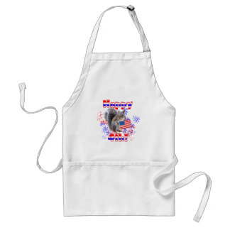 Squirrel 4th of July Adult Apron
