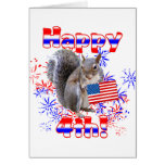 Squirrel 4th of July Greeting Cards