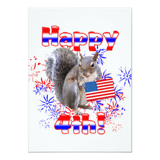 Squirrel 4th of July Announcement