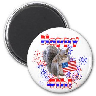 Squirrel 4th of July Fridge Magnet