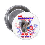 Squirrel 4th of July Pinback Buttons