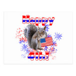 Squirrel 4th of July Postcard