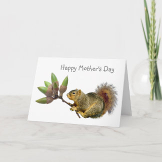 Squirrel Acorn Bouquet Mother's Day Card