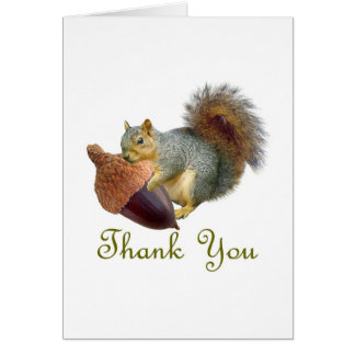 Squirrel Acorn Thank You Card