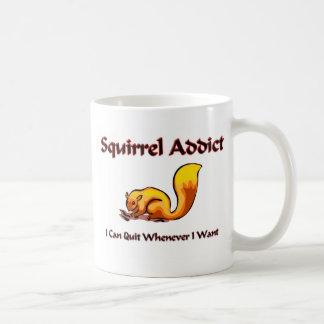 Squirrel Addict Classic White Coffee Mug