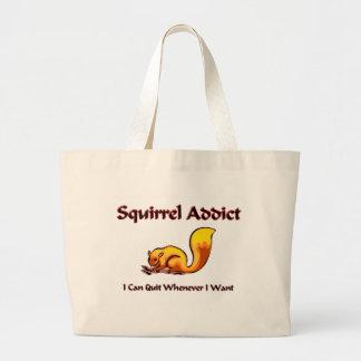 Squirrel Addict Large Tote Bag