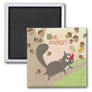 Squirrel and Acorns Magnet