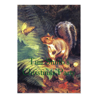Squirrel and Butterfly Card