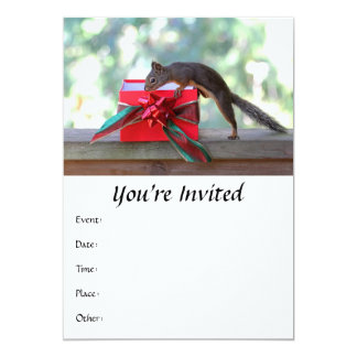 Squirrel and Christmas Present Card