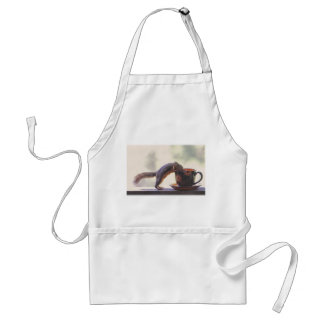 Squirrel and Coffee Cup Adult Apron