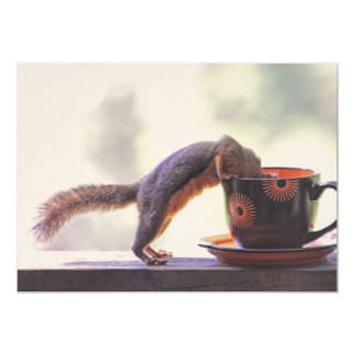 Squirrel and Coffee Cup Card