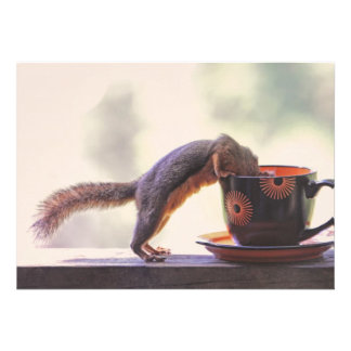 Squirrel and Coffee Cup Invite