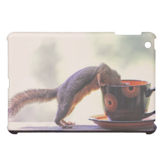 Squirrel and Coffee Cup iPad Mini Case