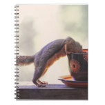 Squirrel and Coffee Cup Notebook