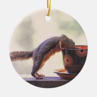 Squirrel and Coffee Cup Christmas Ornaments