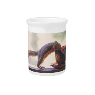 Squirrel and Coffee Cup Pitcher