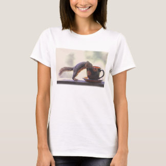 Squirrel and Coffee Cup T-Shirt