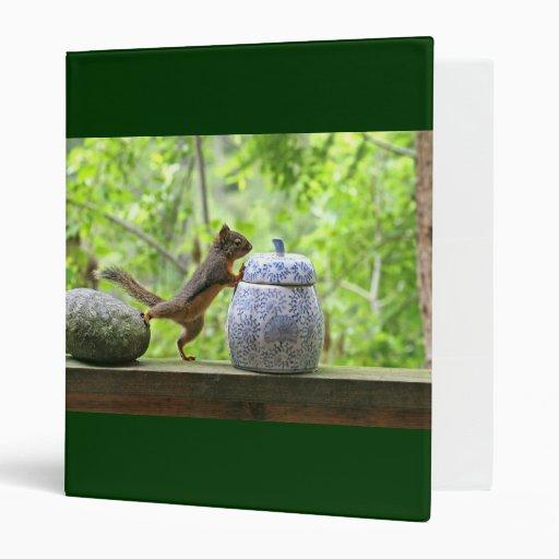 Squirrel and Cookie Jar 3 Ring Binders